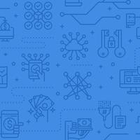 Datasäkerhet sömlös vektormönster