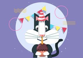 Grattis på födelsedagen djurkatt