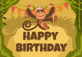 Alles Gute zum Geburtstag Tieraffe