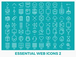 Wesentliche gemischte Web-Ikonen vektor