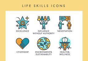 Symbole für Lebensfähigkeiten vektor