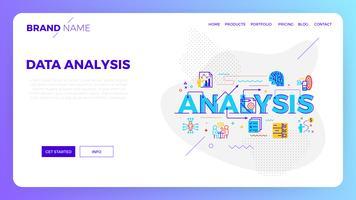 Webvorlage für die Datenanalyse vektor