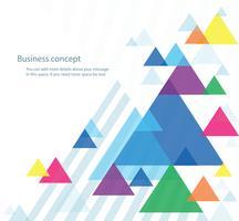 abstrakte farbenfrohe Dreieck Hintergrund Wallpaper Vektor-Illustration