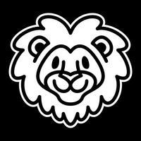 Lion huvud tecknad illustration vektor