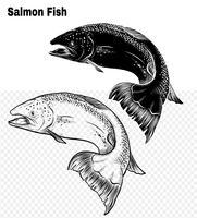 Fischvektor eigenhändig Zeichnung. vektor