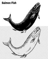 Fischvektor eigenhändig Zeichnung vektor