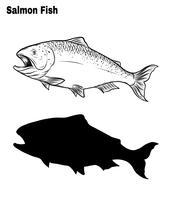 Fischvektor eigenhändig Zeichnung