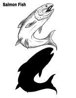 Fischvektor eigenhändig Zeichnung.