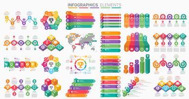 Infografiken Elementsatz vektor