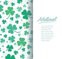 süße grüne Kleeblatt Hintergrund Vektor-Illustration vektor