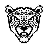 Cheetah stor katt vektor illustration