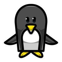 Pinguin-Cartoon-Illustration vektor
