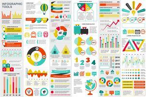 Infographik Elemente Daten Visualisierung Vektor Entwurfsvorlage. Kann für Schritte, Optionen, Geschäftsprozesse, Workflow, Diagramm, Ablaufdiagrammkonzept, Zeitachse, Marketing-Symbole und Infografiken verwendet werden.