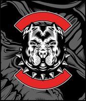 Mittlere Bulldoggen-Maskottchen-Illustration vektor