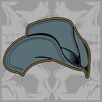 Kappe, Fernlastfahrerhandzeichnungsvektor vektor