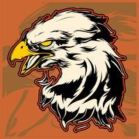 Grafischer Kopf eines Weißkopfseeadlers Mascot Vector Illustration
