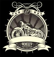 Vintage Motorcykel. vektor handritning