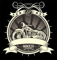 Weinlese-Motorrad. Vektor Handzeichnung