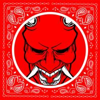 Bandana Skull demon vektor