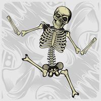 Tanzendes Skelett Handzeichnungsvektor vektor