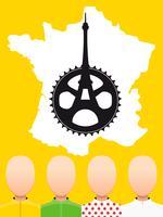 TOUR DE FRANCE Arten von Radtrikots vektor