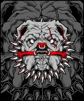 Mittlere Bulldoggen-Maskottchen-Illustration