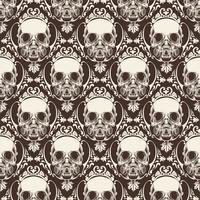 prydnadsskalle sömlösa mönster - vektor