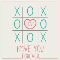 LIEBE DICH FÜR IMMER XOXO Happy Valentines Day Card Schriftart vektor