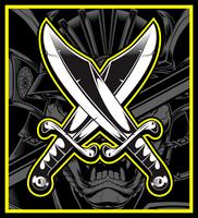 Gekreuzte Schwerter Vektor