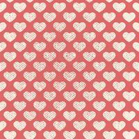 Vektor nahtlose Grunge Herz Muster