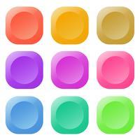 Tecknad knapp set spel, GUI element för mobilspel
