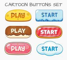 Tecknad knappar som spelar. Vektorns illustration