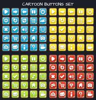 Cartoon-knappsats spelpaket, GUI-element för mobilspel