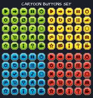 Cartoon Button Set Game Pack, GUI-Element für Handyspiel