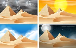 Set der Wüste Landschaft vektor