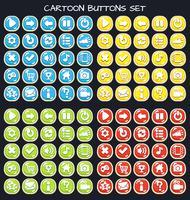 Cartoon Button Set Game Pack, GUI-Element für Handyspiel
