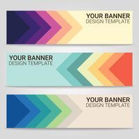 Abstrakter schöner Fahnenschablonenhintergrund, Vektorillustration, Design für Geschäftsdarstellung vektor