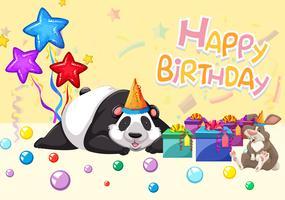 Alles Gute zum Geburtstag Panda-Karte vektor