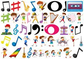 Ein musikalischer Objektsatz vektor