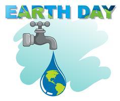 Ein Earth Day Logo vektor
