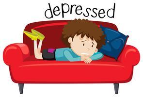 Engelska ordförråd ord av deprimerad