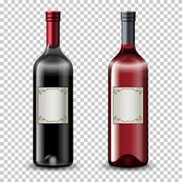 Set Weinflaschen vektor