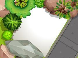 Luftbild des Gartens vektor