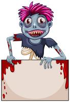 Zombie blank ramkoncept vektor