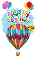 Varmluftsballongfödelsedagskort
