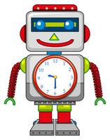 Ein Roboterspielzeug auf weißem Hintergrund vektor