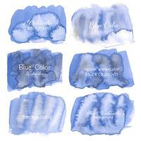 Blauer abstrakter Aquarellhintergrund. Aquarellelement für Karte. Vektor-illustration