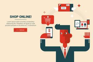 handla online e-handelskoncept vektor