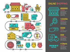 Online Einkaufen vektor