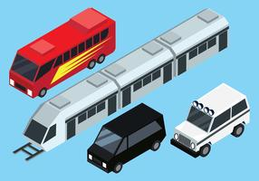 Isometrische Transport Clip Art Set vektor